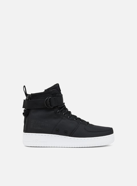 sneakers nike sf air force 1 mid black anthracite white