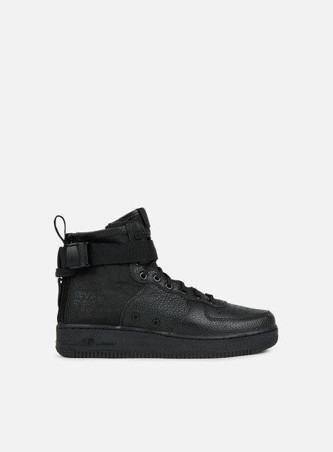 sneakers nike sf air force 1 mid black black black
