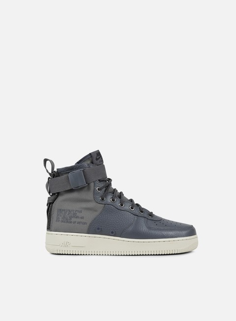 sneakers nike sf air force 1 mid dark grey dark grey light bone