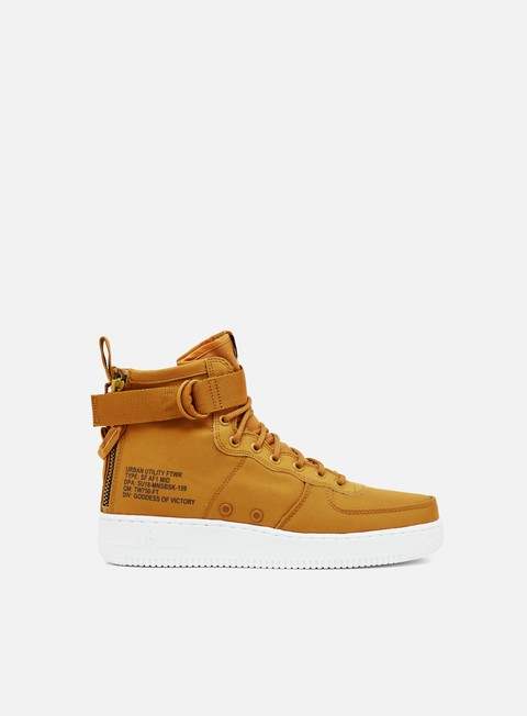 sneakers nike sf air force 1 mid desert ochre sequoia white