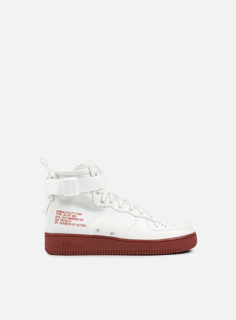 sneakers nike sf air force 1 mid ivory ivory mars stone
