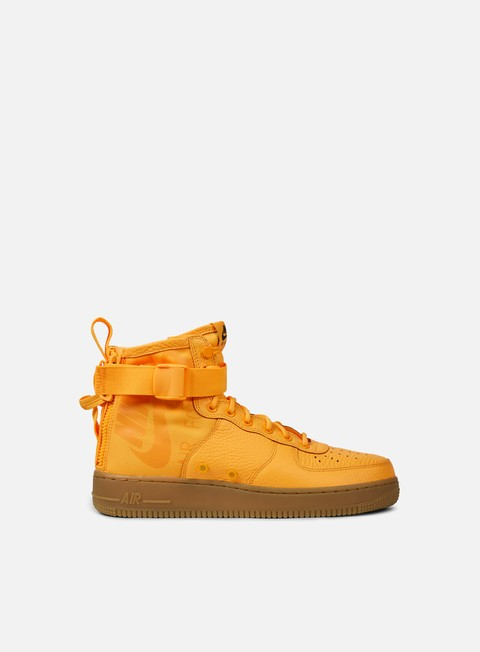 sneakers nike sf air force 1 mid laser orange laser orange black