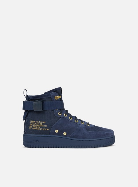 sneakers nike sf air force 1 mid obsidian black obsidian