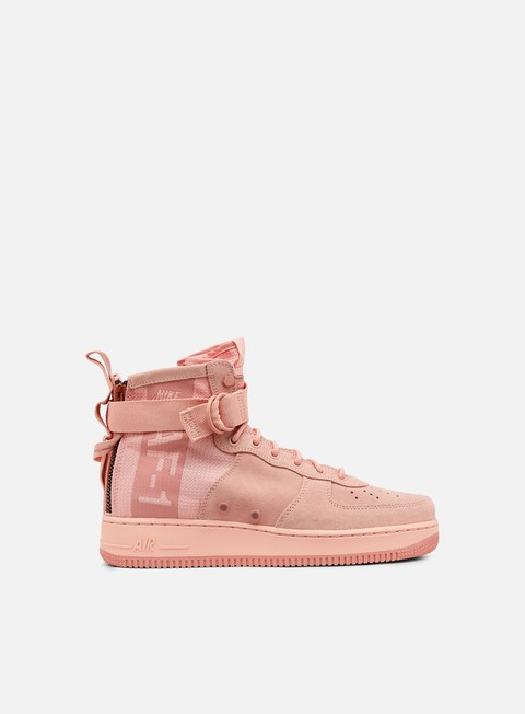 sneakers nike sf air force 1 mid suede coral stardust red stardust