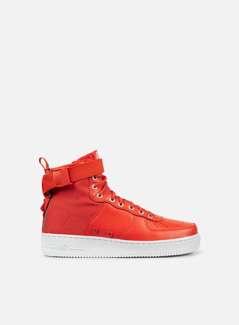 sneakers nike sf air force 1 mid team orange team orange white