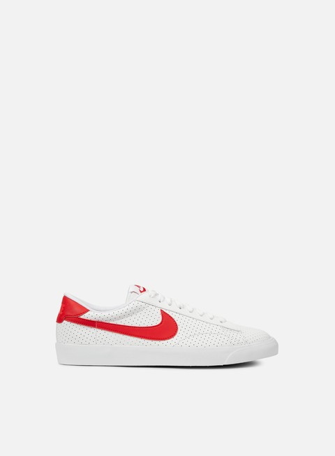 sneakers nike tennis classic ac white university red bright crimson