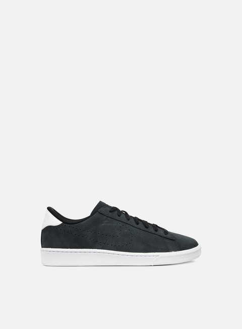 sneakers nike tennis classic cs suede black black white