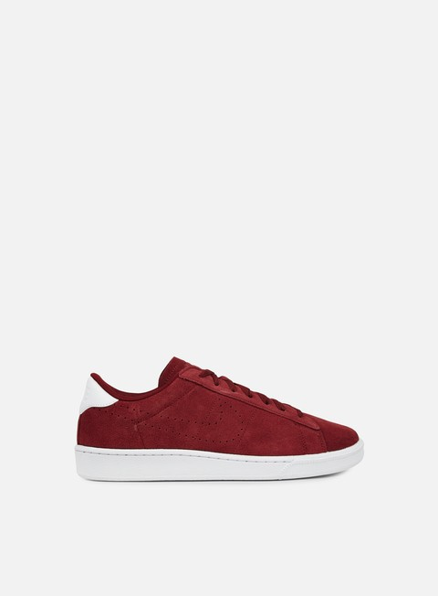 sneakers nike tennis classic cs suede team red team red white