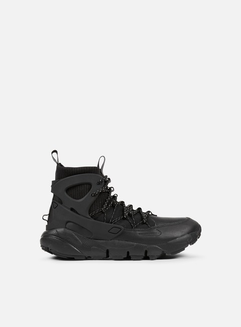 sneakers nike wmns air footscape mid black black summit white