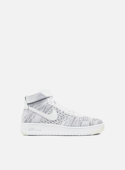 sneakers nike wmns air force 1 flyknit white white black