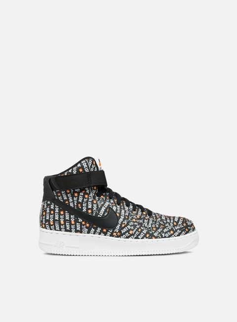 sneakers nike wmns air force 1 hi lx black black white total orange