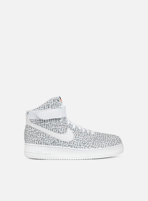 sneakers nike wmns air force 1 hi lx white white white black