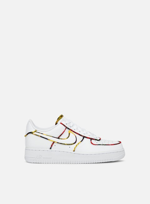 sneakers nike wmns air force 1 lo tartan white white university red