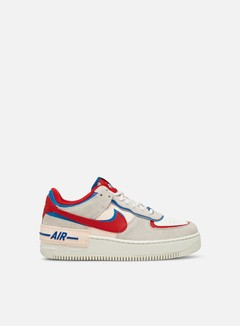 Nike - WMNS Air Force 1 Shadow, Sail/University Red/Photo Blue