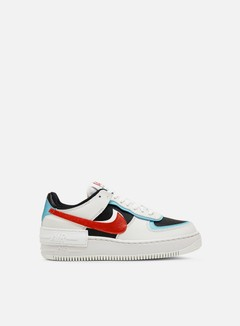 Nike - WMNS Air Force 1 Shadow, Summit White/Chile Red/Bleached Aqua