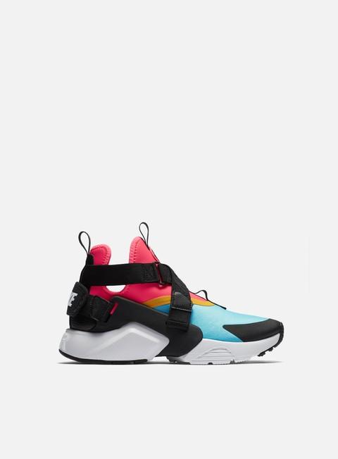 sneakers nike wmns air huarache city bleached aqua black racer pink
