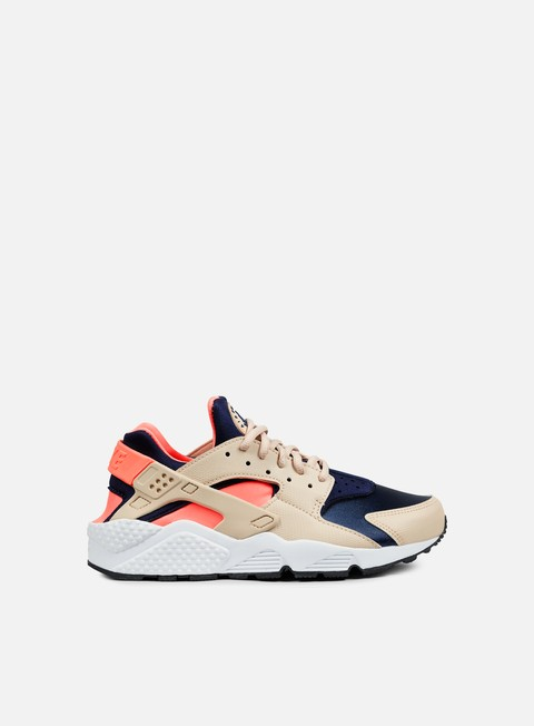 sneakers nike wmns air huarache run oatmeal binary blue lava glow