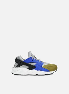 Nike - WMNS Air Huarache Run PRM, Matte Silver/Black/Game Royal 1