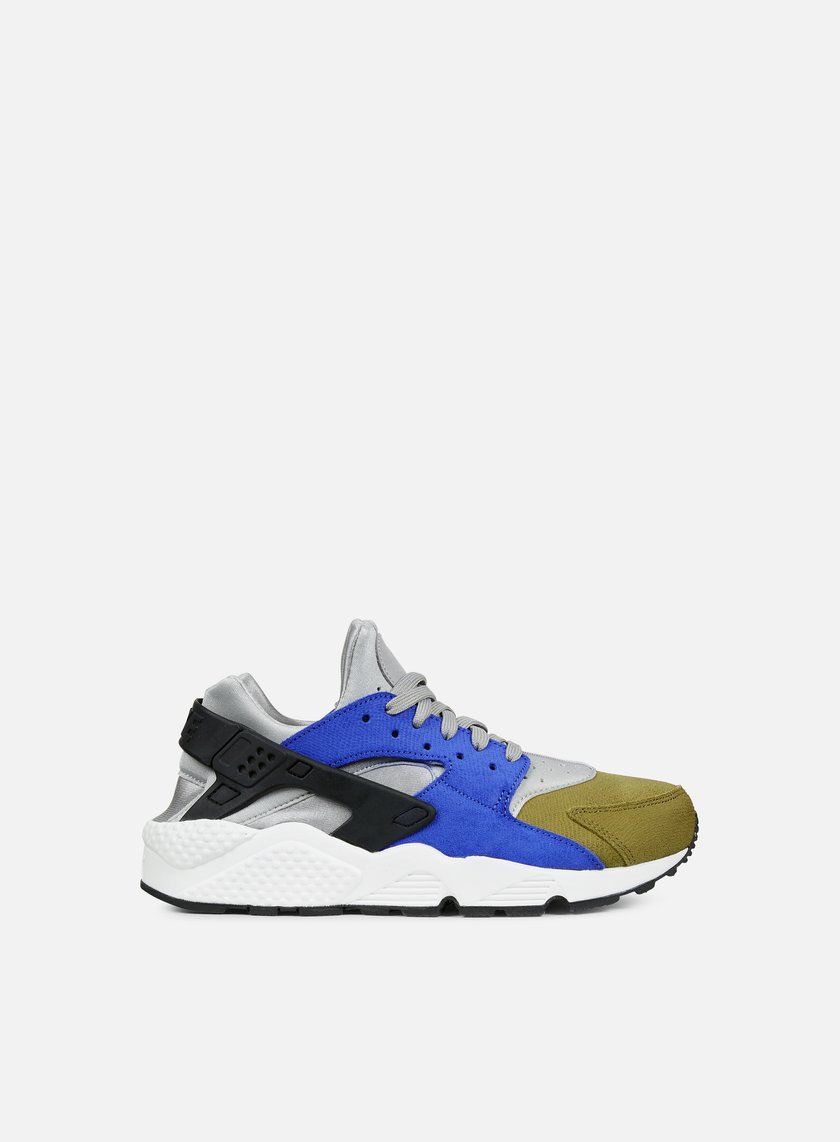 Nike - WMNS Air Huarache Run PRM, Matte Silver/Black/Game Royal