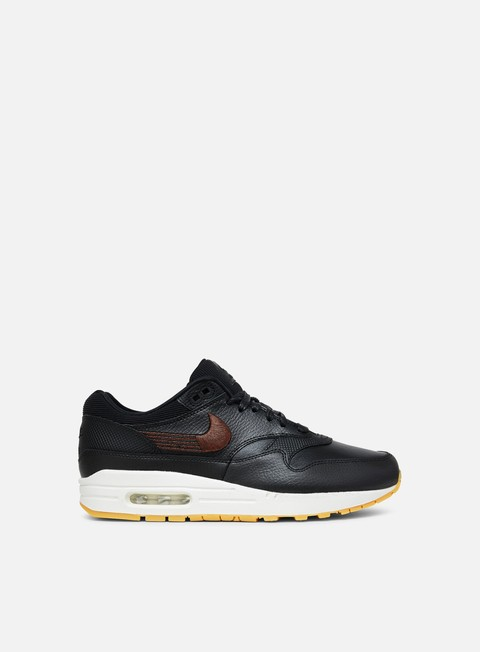 sneakers nike wmns air max 1 premium black black gum yellow