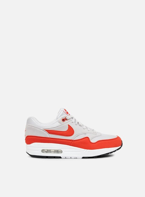 sneakers nike wmns air max 1 vast grey habanero red