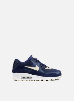 Nike - WMNS Air Max 90, Binary Blue/Oatmeal/White 1