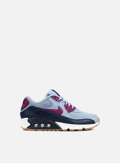 Nike - WMNS Air Max 90 Essential, Blue Grey/Bright Grape 1