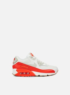Nike - WMNS Air Max 90 Essential, Summit White/Light Bone/Bright Crimson