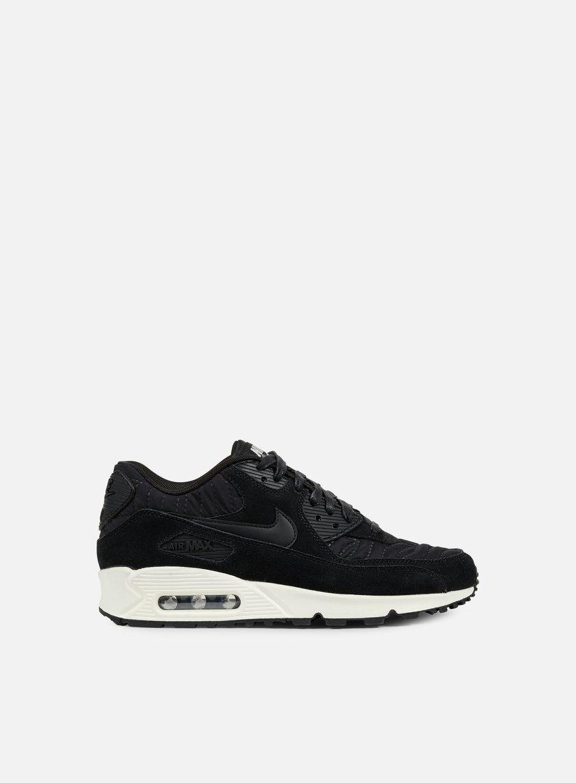 Nike - WMNS Air Max 90 Premium, Black/Black/Ivory