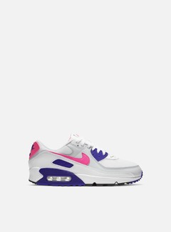 Nike - WMNS Air Max 90, White/Hyper Pink/Concord/Pure Platinum
