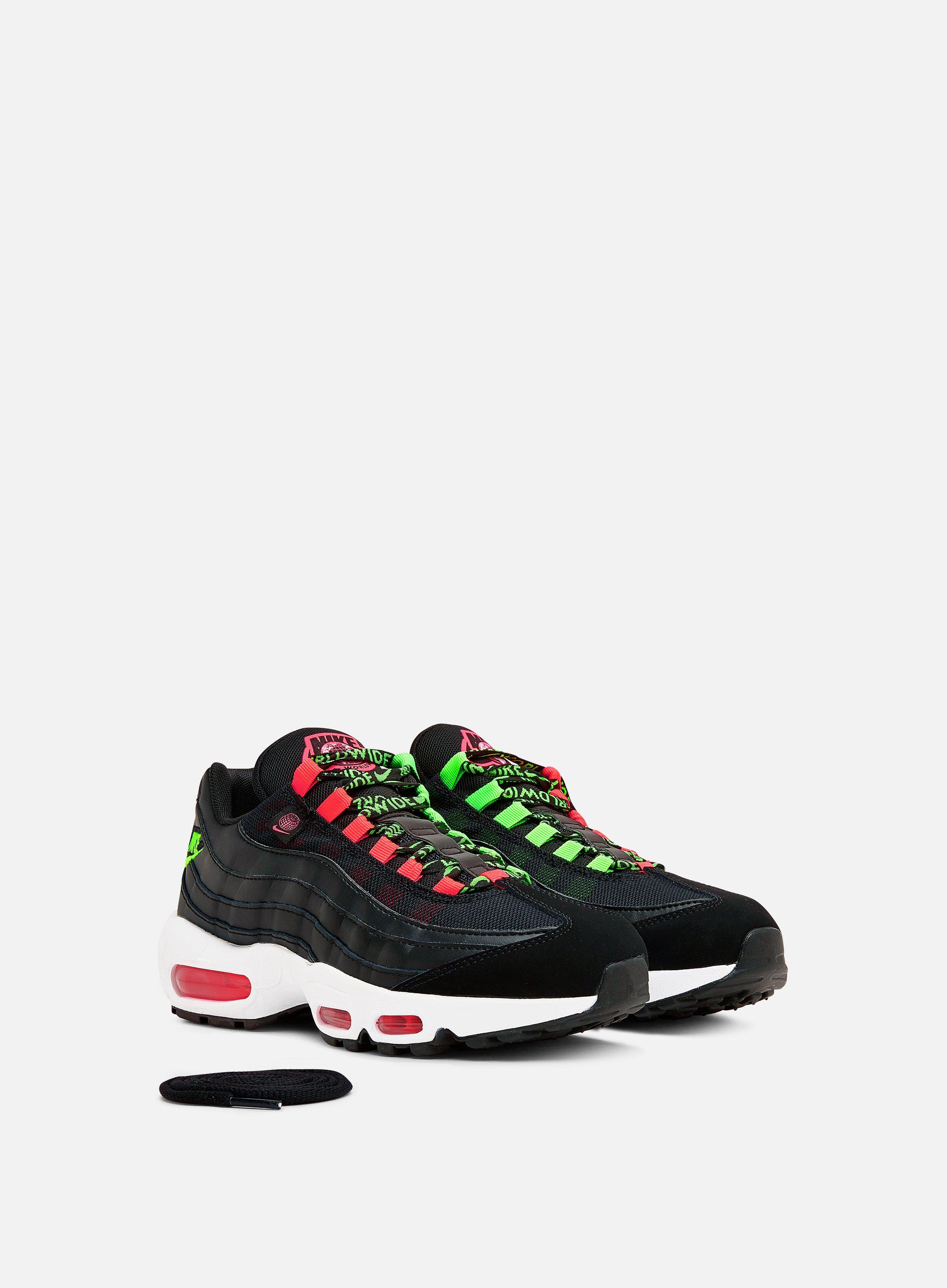 Nike WMNS Air Max 95 SE Women, Black Green Strike Flash Crimson ...