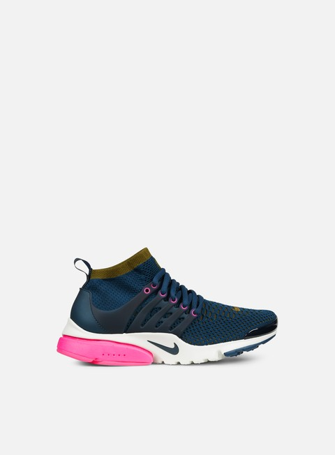 sneakers nike wmns air presto flyknit ultra midnight turquoise olive flak pink blast