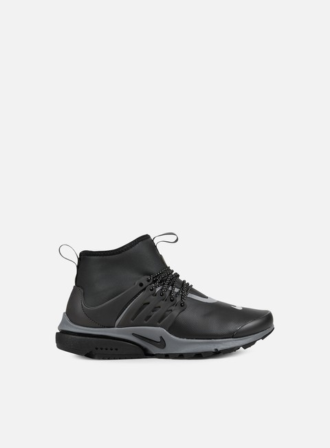 sneakers nike wmns air presto mid utility black black reflective silver