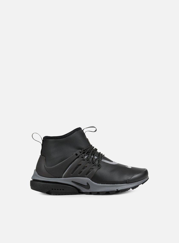 Nike - WMNS Air Presto Mid Utility, Black/Black/Reflective Silver