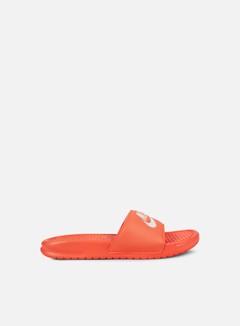 Nike - WMNS Benassi JDI, Bright Mango/White/Bright Mango 1