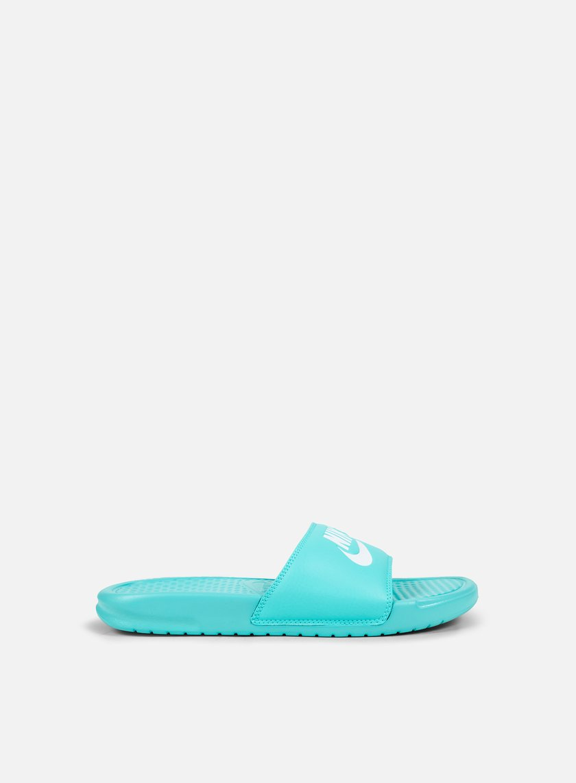 Nike - WMNS Benassi JDI, Hyper Turquoise/White/Hyper Turquoise