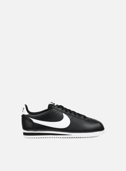 sneakers nike wmns classic cortez leather black white