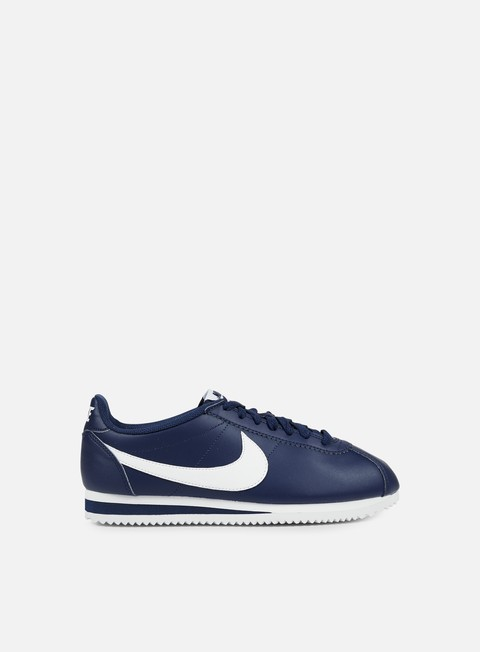 sneakers nike wmns classic cortez leather midnight navy white