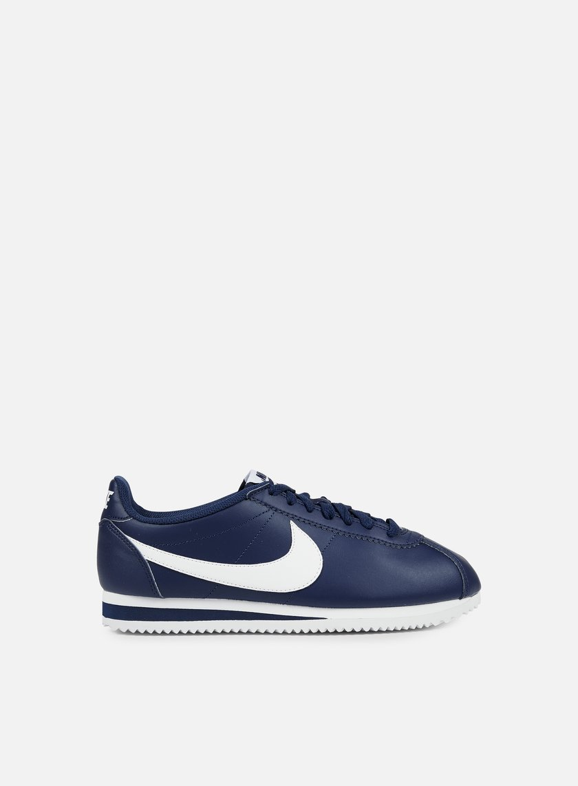 Nike - WMNS Classic Cortez Leather, Midnight Navy/White