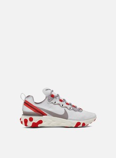 Nike - WMNS React Element 55, Phantom/Parachute Beige/Bleached Coral/Light Orewood Brown