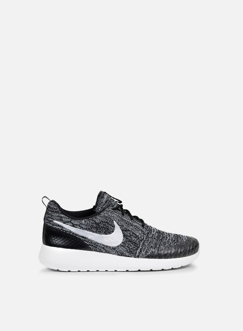 sneakers nike wmns roshe one flyknit black white cool grey