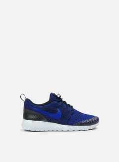Nike - WMNS Roshe One Flyknit, Dark Obsidian/Racer Blue/Deep Royal Blue