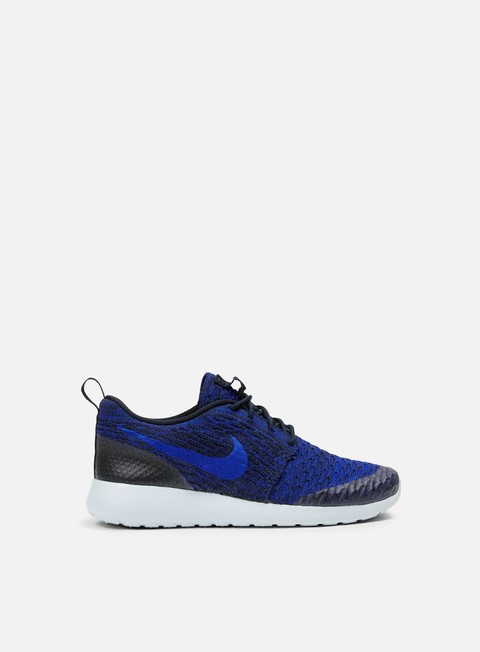 sneakers nike wmns roshe one flyknit dark obsidian racer blue deep royal blue