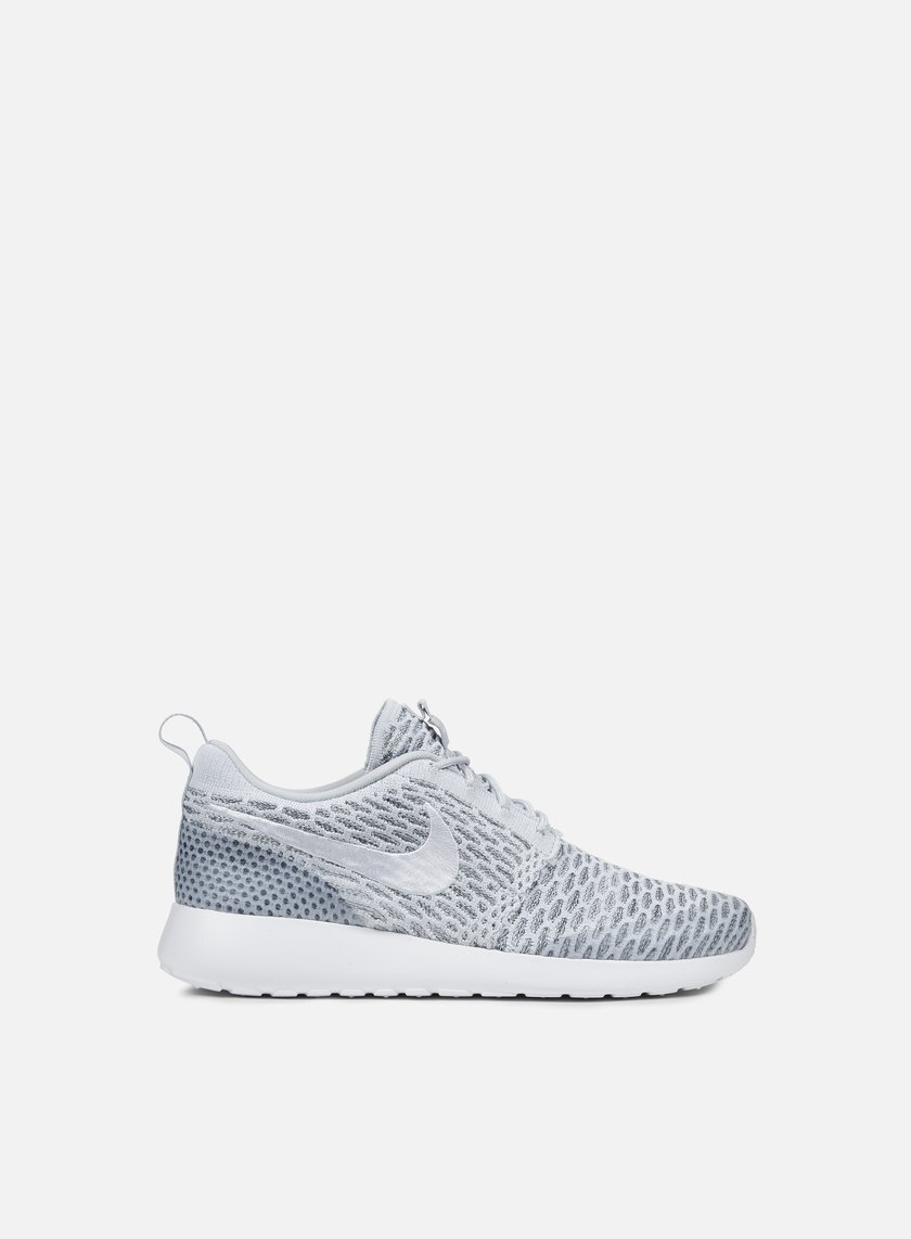 Nike - WMNS Roshe One Flyknit, Pure Platinum/White/Cool Grey