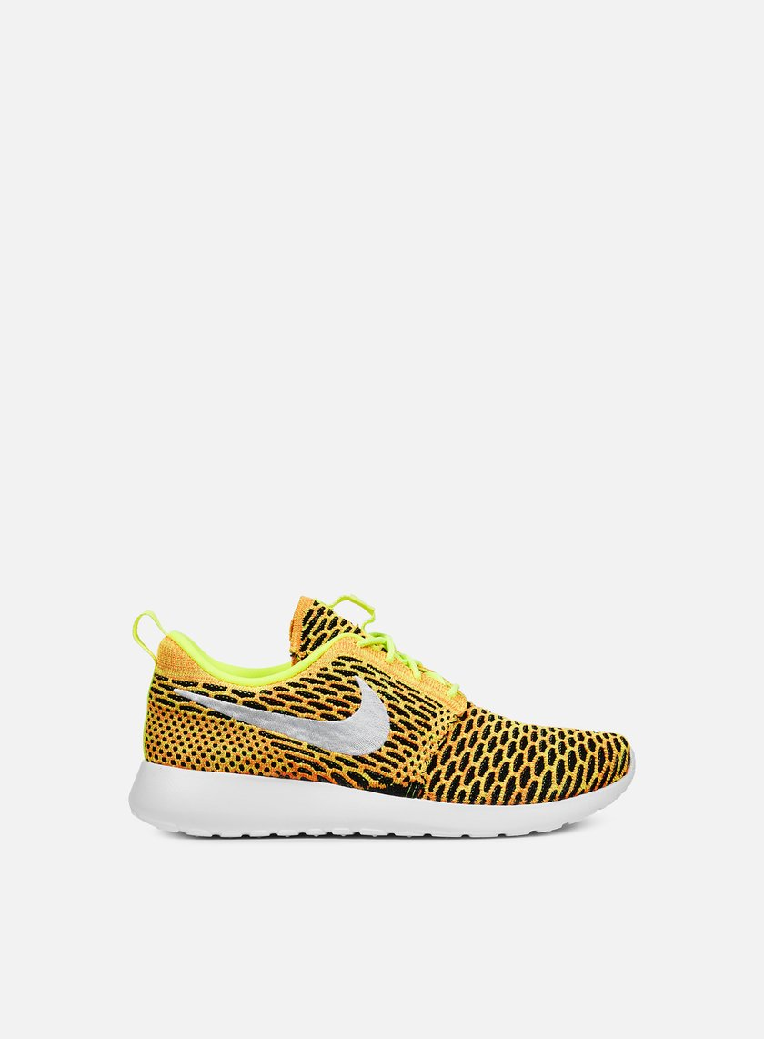 Nike - WMNS Roshe One Flyknit, Volt/White/Total Orange