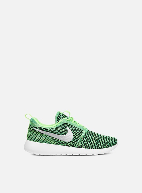 sneakers nike wmns roshe one flyknit voltage green white lucid green