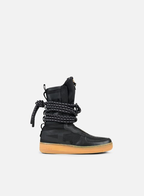 sneakers nike wmns sf air force 1 hi black black gum light brown