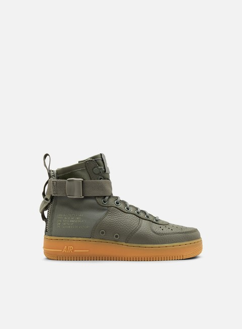 sneakers nike wmns sf air force 1 mid dark stucco dark stucco