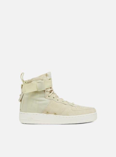 sneakers nike wmns sf air force 1 mid fossil sail