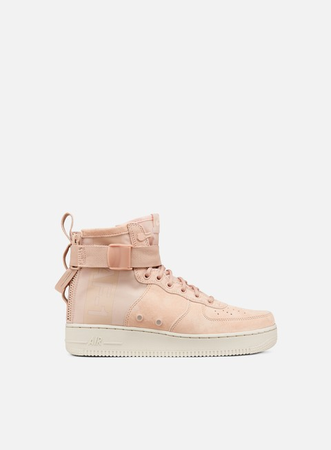 sneakers nike wmns sf air force 1 mid particle beige particle beige